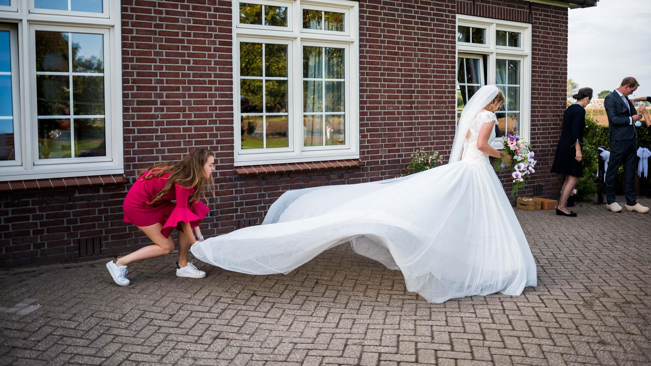 wapperende jurk