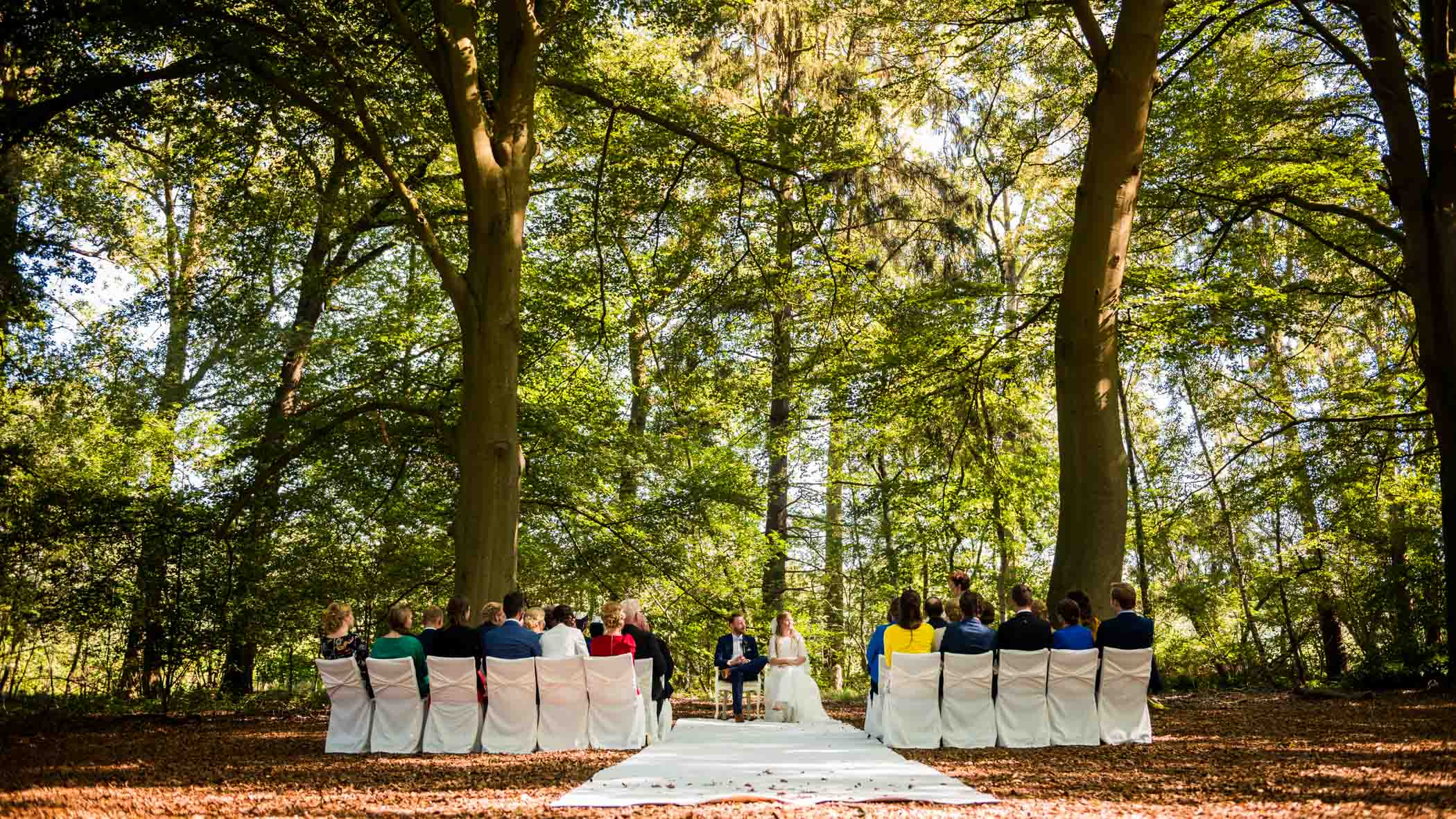 Trouwen in het Bos ceremonie