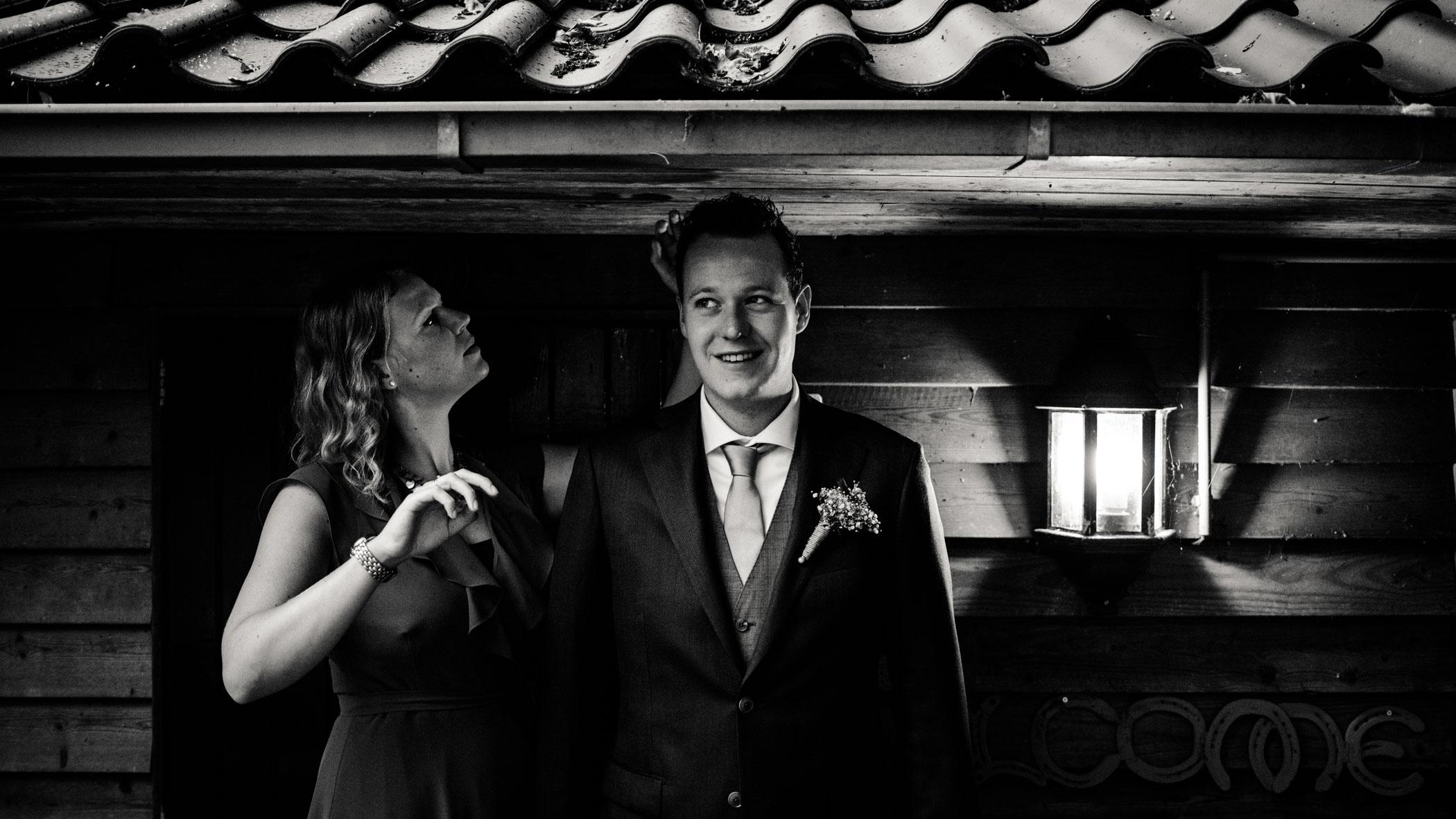 Klaarmaken bruidegom