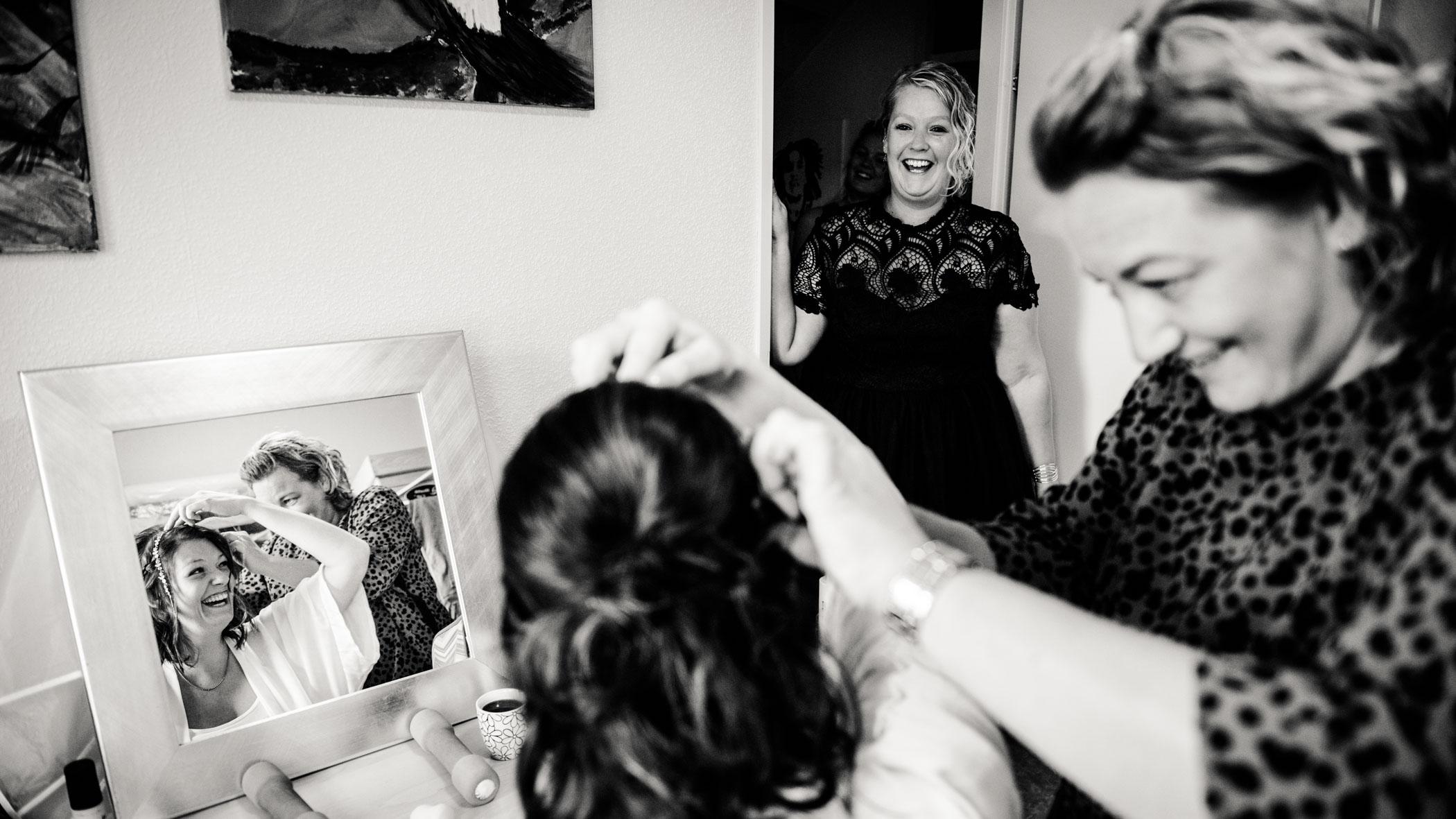 Opmaken bruid