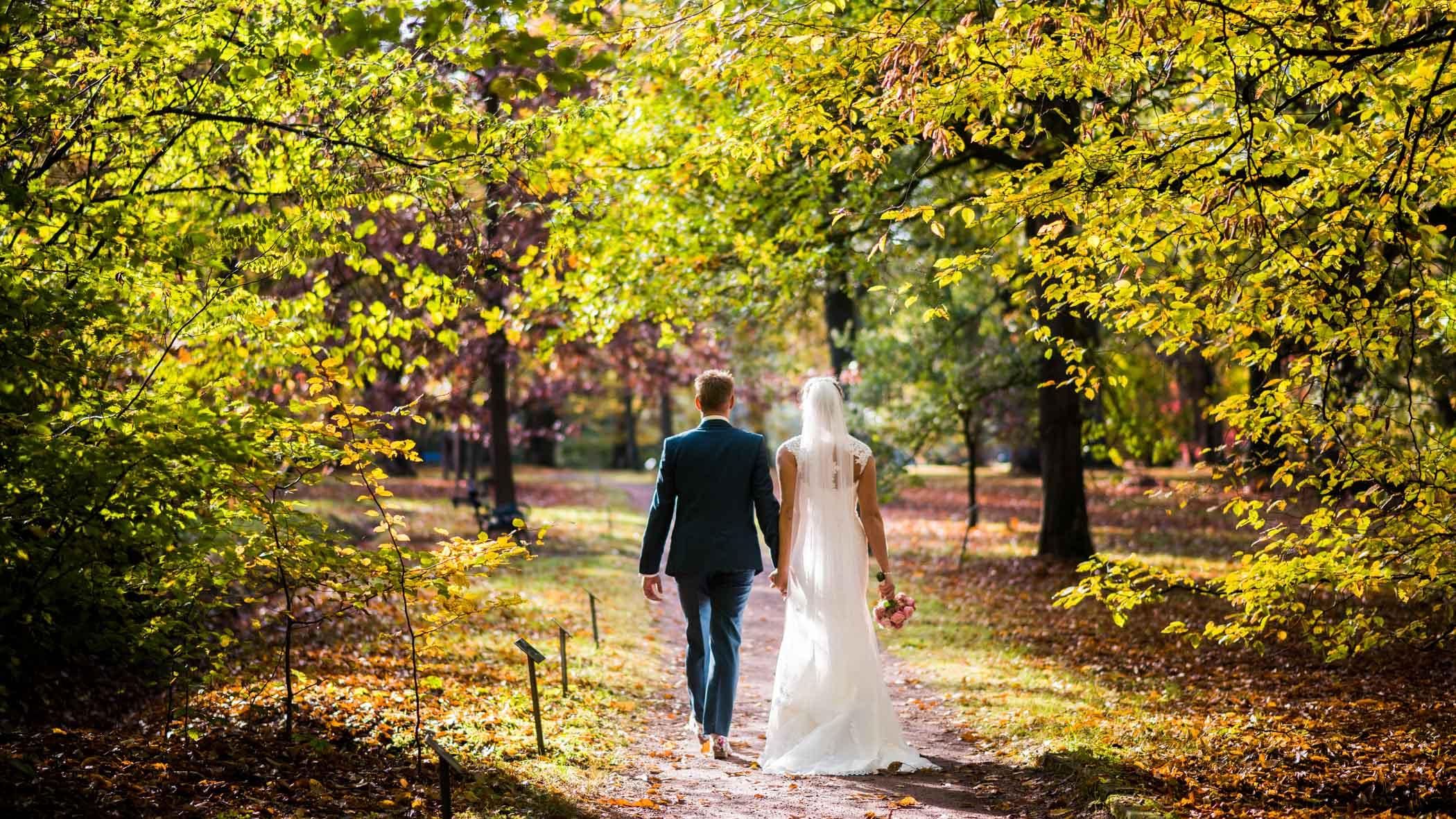 bruidsfoto Arboretum Poort Bulten