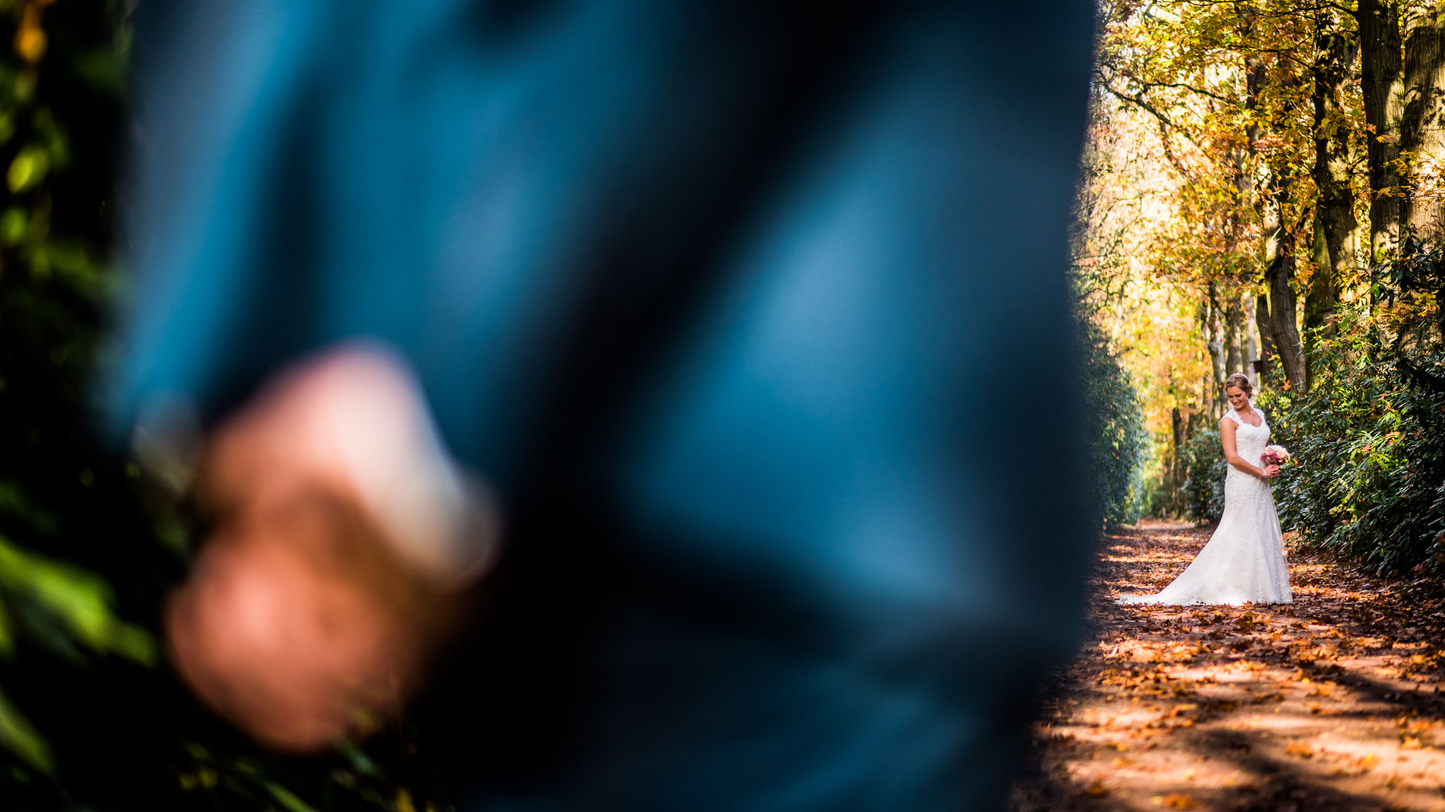 bruidsfotograaf in Arboretum Poort Bulten