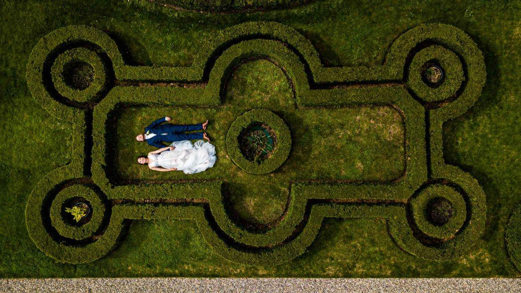 Bruidsfotograaf Landgoed Rhederoord Drone